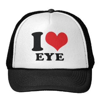I Heart / love Eye Hats
