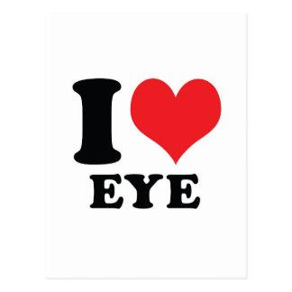 I Heart / love Eye Postcard