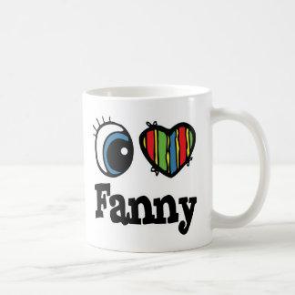 I  Heart (Love) Fanny Coffee Mug