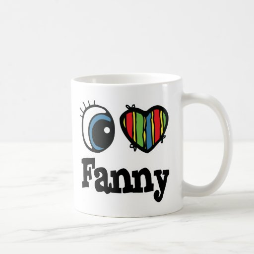 I  Heart (Love) Fanny Coffee Mugs