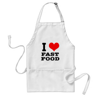 I HEART (LOVE) fast food Standard Apron