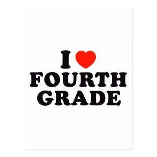 I Heart / Love Fourth Grade Postcard