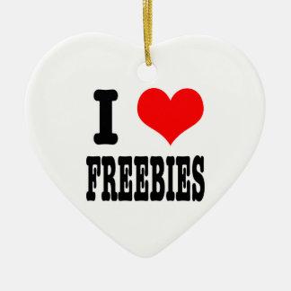 I HEART (LOVE) freebies Ceramic Heart Decoration