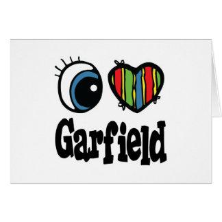 I Heart (Love) Garfield Card