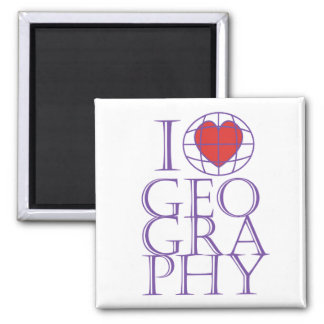 I heart love Geography Fridge Magnet