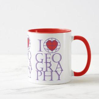 I heart (love) Geography Mug