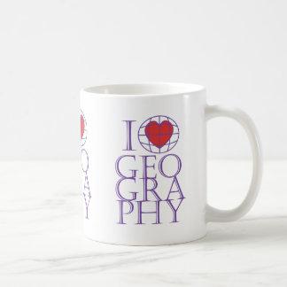 I heart (love) Geography Red Heart Mug