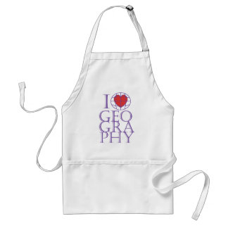I heart (love) Geography Standard Apron