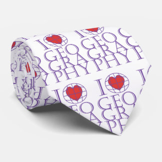I heart (love) Geography Tie