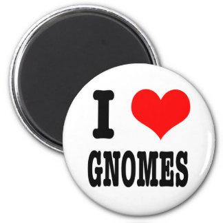 I HEART (LOVE) gnomes Magnet