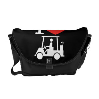 I Heart (Love) Golf Cart Courier Bag