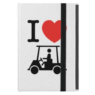 I Heart (Love) Golf Cart Cover For iPad Mini