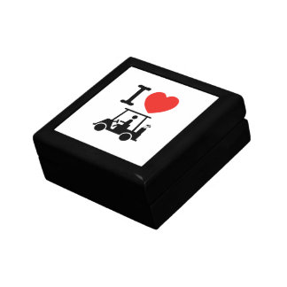 I Heart (Love) Golf Cart Gift Box