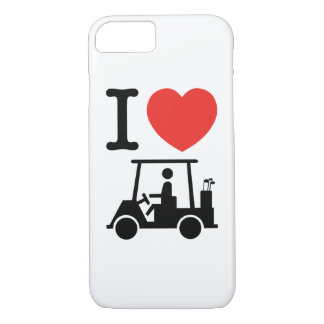 I Heart (Love) Golf Cart iPhone 7 Case