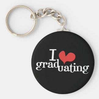 I heart (love) Graduating Keychain