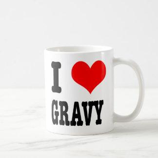 I HEART LOVE GRAVY COFFEE MUGS