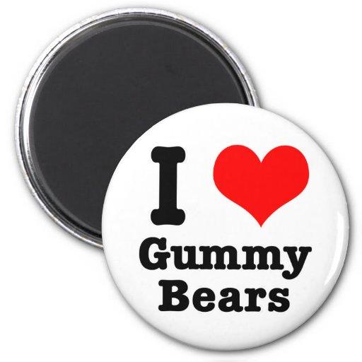 I HEART (LOVE) gummy bears Magnets