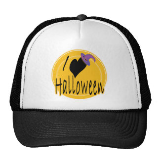 I heart love Halloween with Witch s Hat