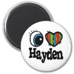 I Heart (Love) Hayden Fridge Magnet