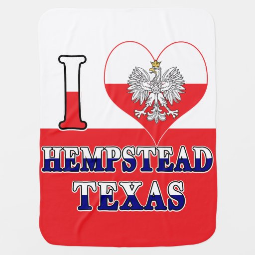 I Heart Love Hempstead Texas Baby Blanket