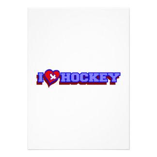 I heart love Hockey Personalized Invitation