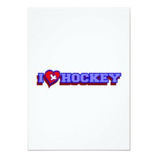 I heart (love) Hockey Personalized Invitation