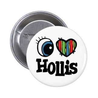 I Heart (Love) Hollis 6 Cm Round Badge