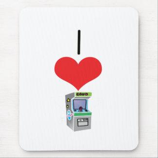 I Heart Love I Heart Love Arcade Gamess Mouse Mat