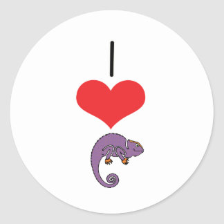 I Heart (Love) Iguanas  Classic Round Sticker