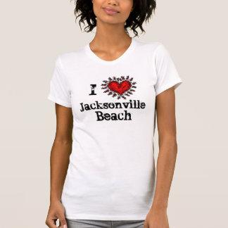 I  Heart (love) Jacksonville Beach T-shirt