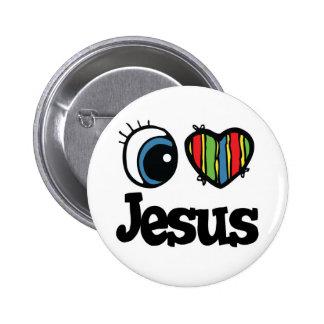 I Heart (Love) Jesus 6 Cm Round Badge