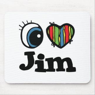 I Heart (Love) Jim Mouse Pad