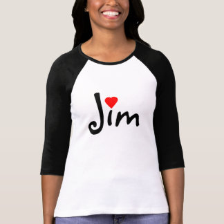 I Heart (Love) Jim Or ? T Shirt