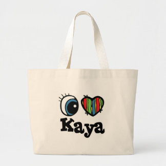 I Heart (Love) Kaya Jumbo Tote Bag