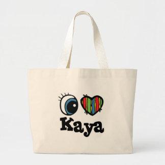 I Heart (Love) Kaya Canvas Bags