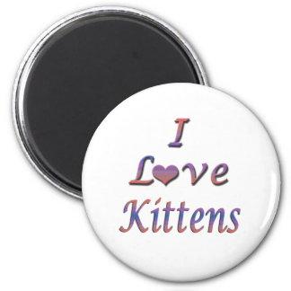 I Heart Love Kittens Magnets