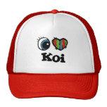I Heart (Love) Koi Mesh Hats