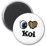I Heart (Love) Koi Refrigerator Magnets