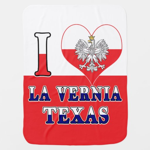 I Heart Love La Vernia Texas Baby Blanket