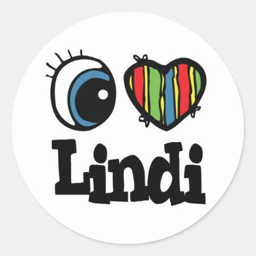 I Heart (Love) Lindi Stickers