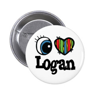 I Heart (Love) Logan 6 Cm Round Badge