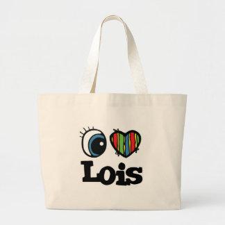 I Heart (Love) Lois Jumbo Tote Bag