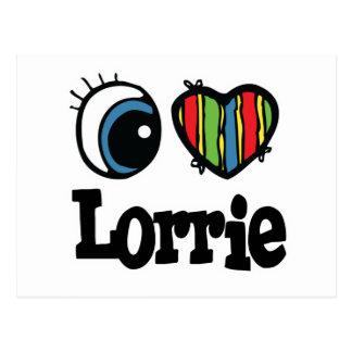 I Heart (Love) Lorrie Postcard