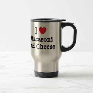 I heart (love) Macaroni and Cheese Stainless Steel Travel Mug