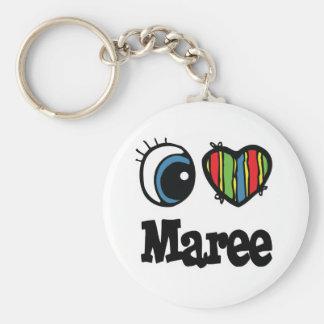 I Heart Love Maree Key Chains