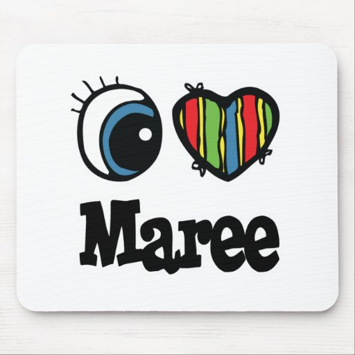 I Heart (Love) Maree Mouse Mat