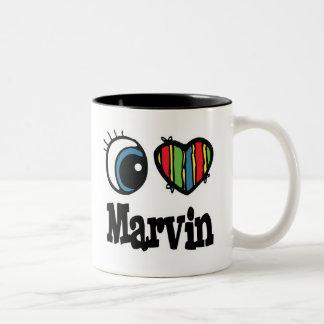 I Heart (Love) Marvin Two-Tone Mug