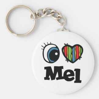 I Heart (Love) Mel Basic Round Button Key Ring