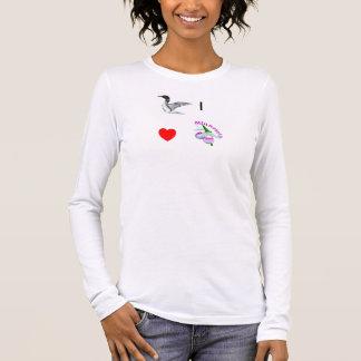 I heart (Love) Minnesota -Loon and Lady Slipper Long Sleeve T-Shirt