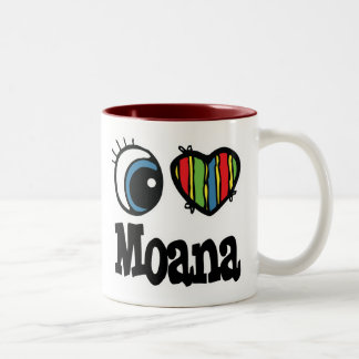 I Heart (Love) Moana Two-Tone Coffee Mug